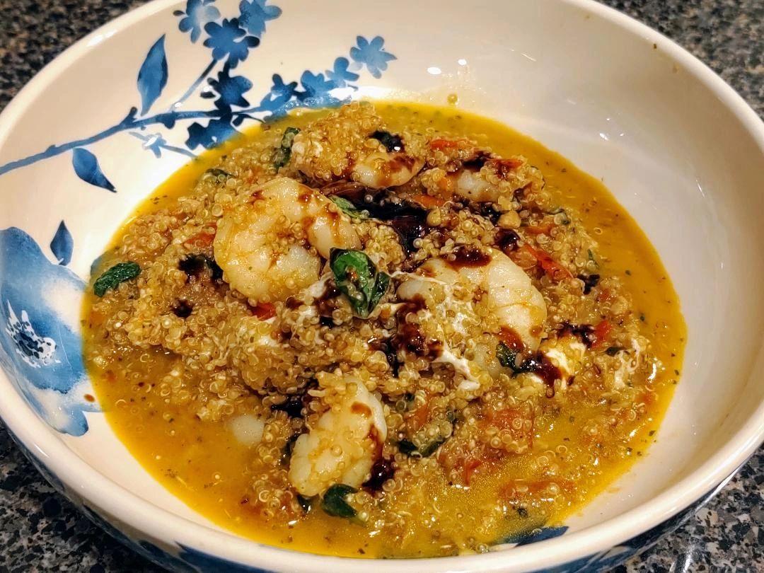 Caprese Shrimp Quinoa